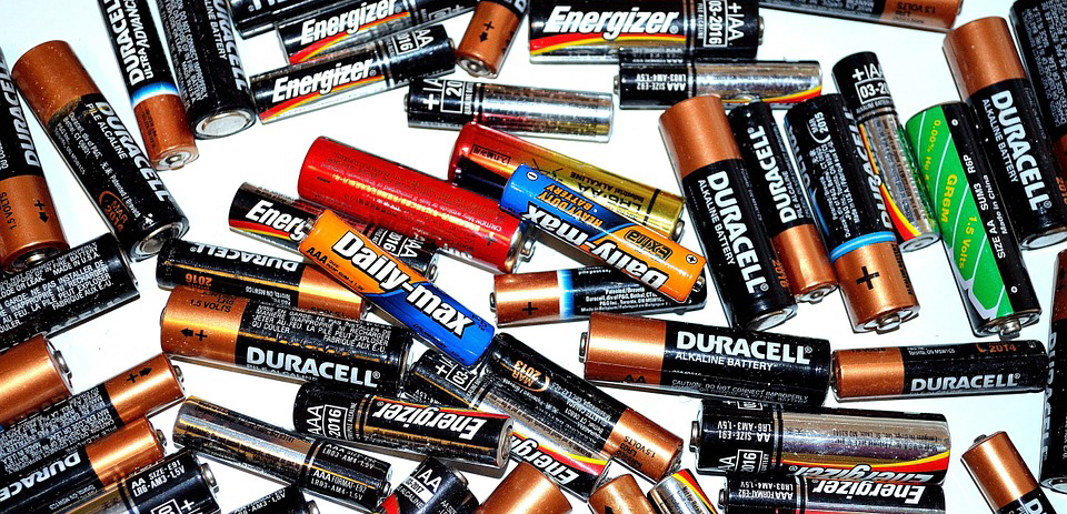 Pile of AA Batteries