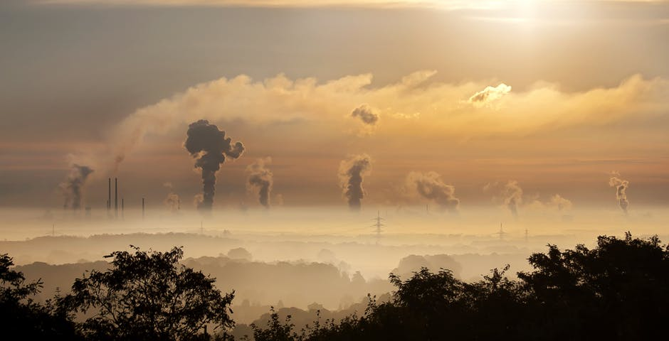 industry gas pollution sunrise